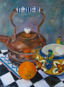 The-copper-kettle-oil-on-canvas-painted-by-©-Carla-Strozzieri-1994