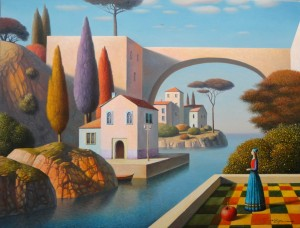 expectation,20x26,oil on canvas,Eugen Gordiets